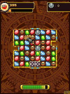 Скриншот java игры Jewel Quest III Wolrld Adventure. Игровой процесс.