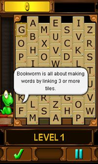 Download free game for mobile phone: Bookworm - download mobile games for free.