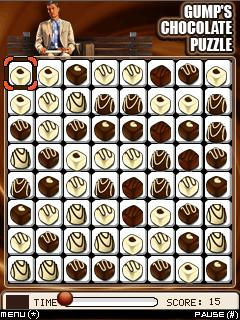 Download free game for mobile phone: Gumps Chocolate Puzzle - download mobile games for free.