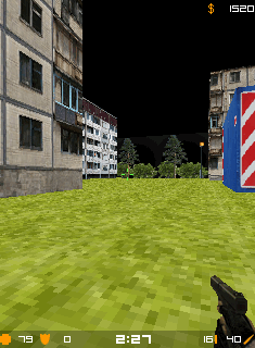 Mobil-Spiel Gegenstreik: Südossetien - Screenshots. Spielszene Counter Strike: South Ossetia.