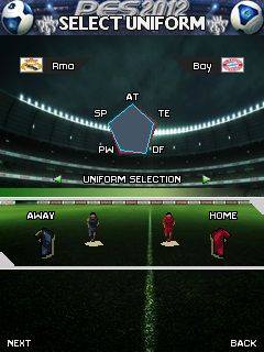 Mobil-Spiel Professioneller Evolutionsfussball 2012 - Screenshots. Spielszene Pro Evolution Soccer 2012.