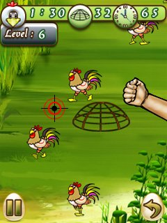 Download free mobile game: Catch Cock - download free games for mobile phone.