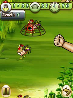 Download free game for mobile phone: Catch Cock - download mobile games for free.