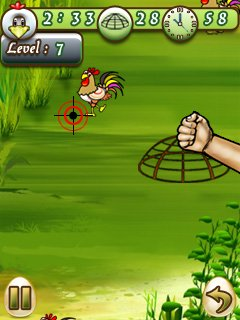 Jeu mobile Attrape le Coq - captures d'écran. Gameplay Catch Cock.