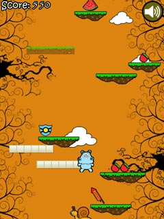 Jeu mobile Saute, Hippo - captures d'écran. Gameplay Hippo Jump.
