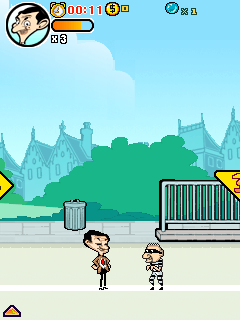Скриншот java игры Mr. Bean: Around the World Adventure. Игровой процесс.