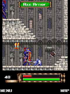 Скриншот java игры Castlevania: Aria of Sorrow. Игровой процесс.