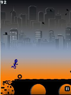 Mobile game Blue Runner - screenshots. Gameplay Blue Runner.