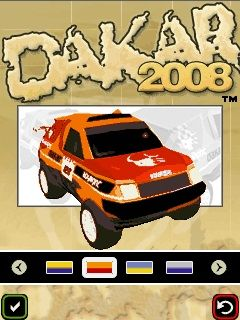 Download free mobile game: Dakar Rally 2008 - download free games for mobile phone.