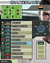 Mobil-Spiel PEF Professioneller Evolutionsfussball 2008 - Screenshots. Spielszene PES Pro Evolution Soccer 2008.