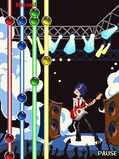 Jeu mobile Le Roi de la Guitare - captures d'écran. Gameplay Guitar king.