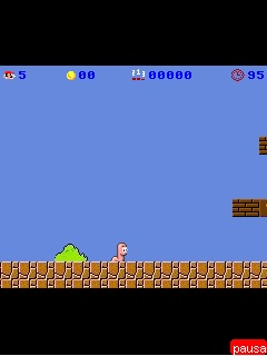 Download free mobile game: Mario Bros Super Worm 2008 - download free games for mobile phone.
