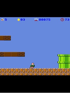 Download free game for mobile phone: Mario Bros Super Worm 2008 - download mobile games for free.