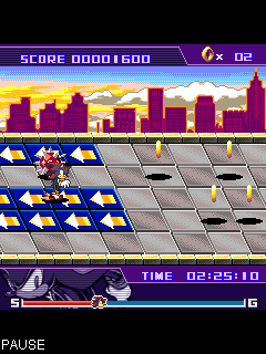 Jeu mobile Le Coup de Balle de Sonic le Noir - captures d'écran. Gameplay Shadow Shoot Sonic Series.