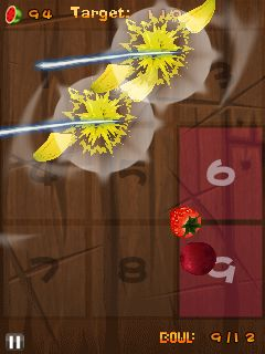 Mobile game Fruit ninja: Kinect - screenshots. Gameplay Fruit ninja: Kinect.