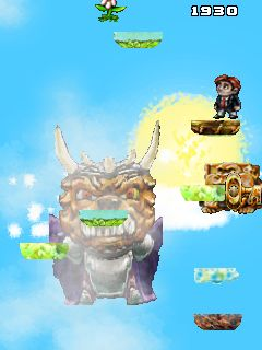 Скріншот java гри Jump Dude Jump: Braid mobile. Ігровий процес.