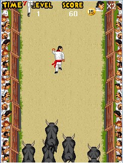 Mobile game Pamplona Bull Run - screenshots. Gameplay Pamplona Bull Run.