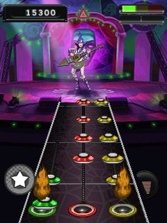 Скріншот java гри Guitar Hero 5 Mobile: More Music. Ігровий процес.