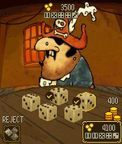 Mobil-Spiel Piratenbude - Screenshots. Spielszene Pirate's Den.
