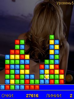 Mobile game Babe Blocks - screenshots. Gameplay Babe Blocks.