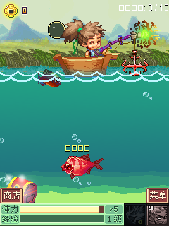 Скриншот java игры Fishing up Cultivation Edition. Игровой процесс.