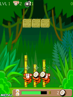 Jeu mobile Le Grimpage du Singe - captures d'écran. Gameplay Monkey Pole Climb.