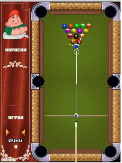 Скриншот java игры Cartoon billiards. Игровой процесс.