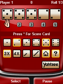 Download free mobile game: Yahtzee Deluxe - download free games for mobile phone.