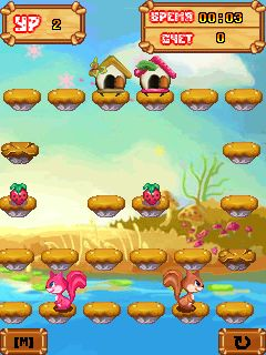 Mobile game Adventure Squirrel - screenshots. Gameplay Adventure Squirrel.