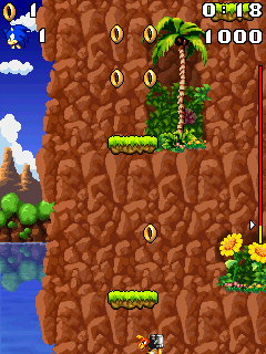 Mobile game Sonic jump 2 - screenshots. Gameplay Sonic jump 2.