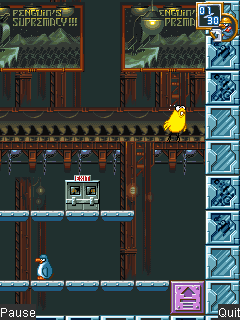 Mobile game The Penguin Menace - screenshots. Gameplay The Penguin Menace.