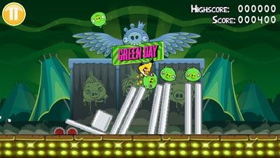 Download free game for mobile phone: Angry Birds: Green Day - download mobile games for free.