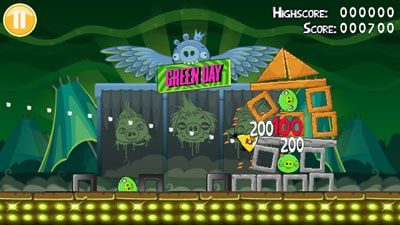 Mobile game Angry Birds: Green Day - screenshots. Gameplay Angry Birds: Green Day.