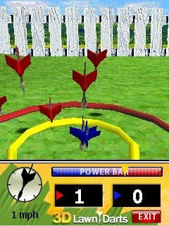 Jeu mobile La Pelouse de Darts 3D - captures d'écran. Gameplay 3D Lawn Darts.