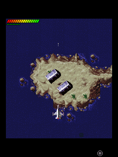 Mobil-Spiel F-16 Luft-Vernichter - Screenshots. Spielszene F-16 Air Fighter.