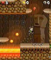 Скриншот java игры Pitfall Caves. Игровой процесс.