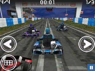 Скріншот java гри Strike Out Racing. Ігровий процес.