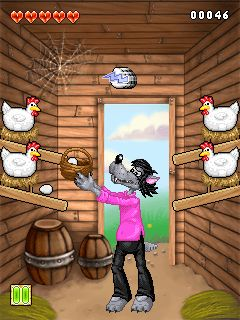 Download free mobile game: Nu pogodi: Stir in the henhouse - download free games for mobile phone.