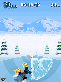 Mobil-Spiel Winter-Bonusausgabe - Screenshots. Spielszene Winter Bonus Selection.