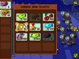 Jeu mobile Plantes contre Zombies - captures d'écran. Gameplay Plants vs Zombies.
