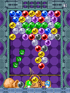 Jeu mobile Les Super Puzzles de Bobble - captures d'écran. Gameplay Super Puzzle Bobble.