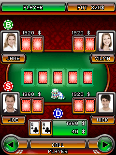 Скриншот java игры Holdem Poker Inferno. Игровой процесс.