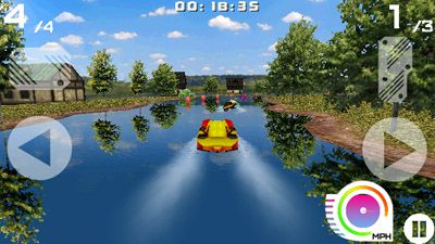 Скриншот java игры Powerboats Surge 3D. Игровой процесс.