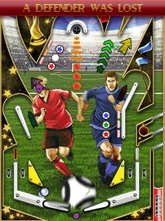 Скріншот java гри Pinball World Cup Edition. Ігровий процес.