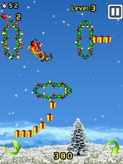 Download free game for mobile phone: Santa Stunt - download mobile games for free.