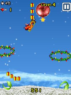 Mobile game Santa Stunt - screenshots. Gameplay Santa Stunt.