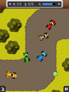 Download free game for mobile phone: Old School Racing - download mobile games for free.