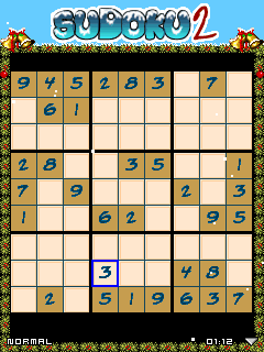 Mobile game Sudoku Christmas 2 - screenshots. Gameplay Sudoku Christmas 2.