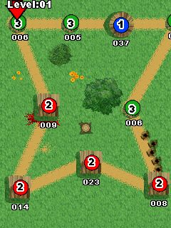 Mobile game Kamikaze Tribes - screenshots. Gameplay Kamikaze Tribes.
