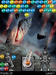 Download free game for mobile phone: Bubble Crash Silver Edition - download mobile games for free.